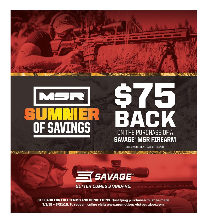 Outdoor Brands Promotion Center - Summer of Savings MSR Rebate