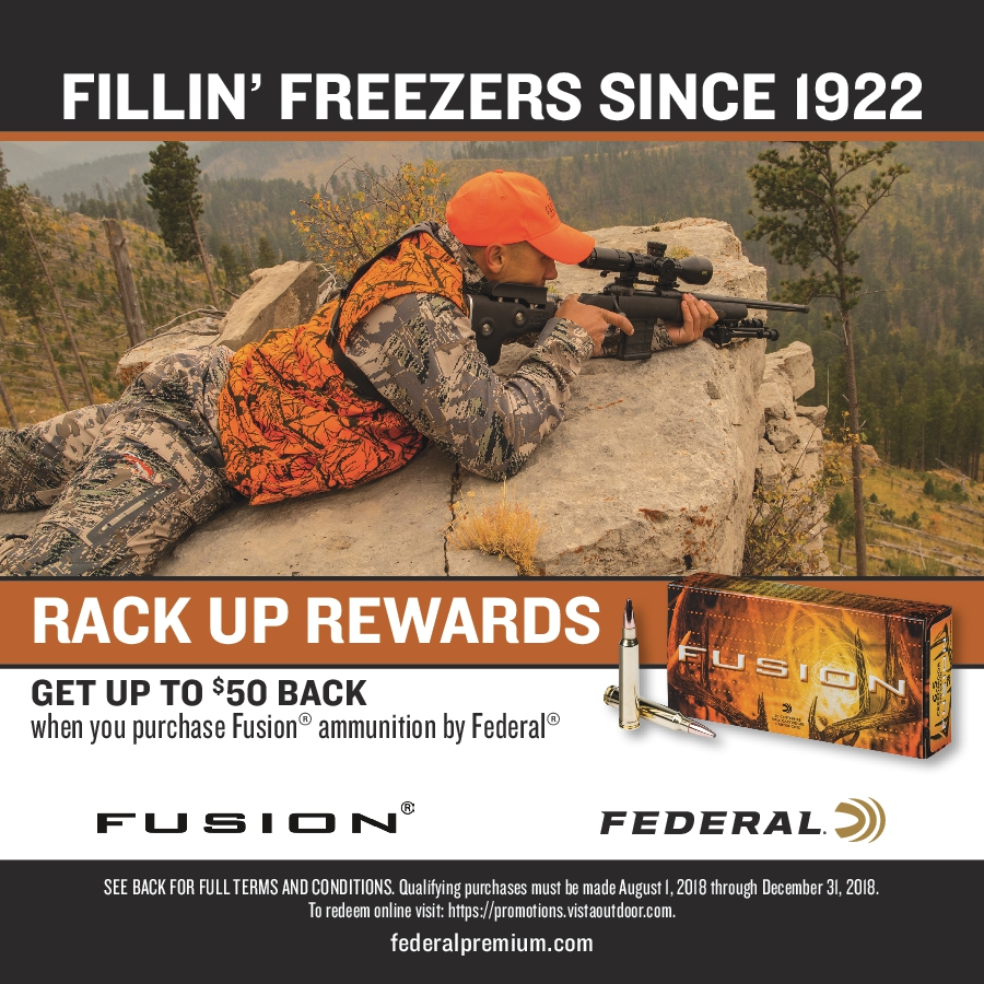 Purchase One 1 Box Of Fusion Ammunition And Receive A 5 00 Rebate Limit 10 Bo